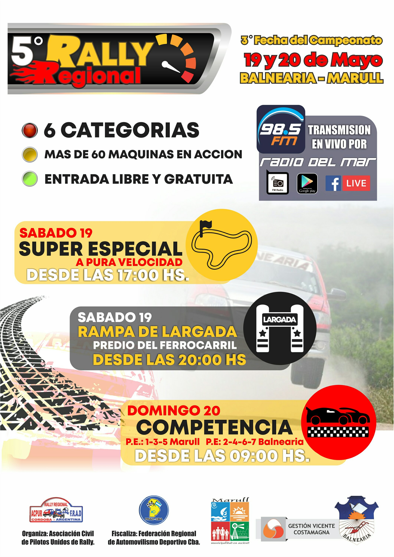 SE CORRE EL RALLY REGIONAL EL 19 Y 20 DE MAYO