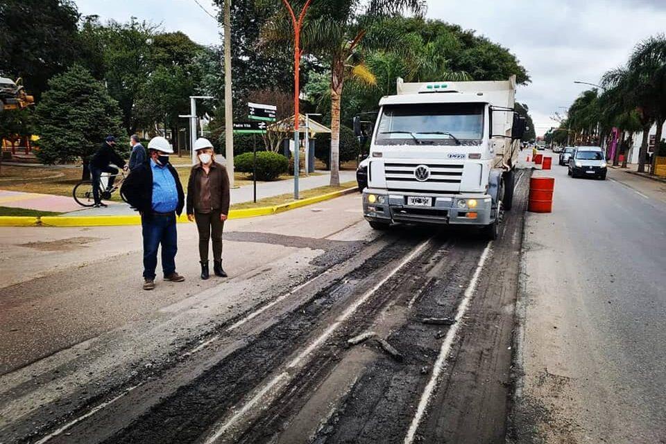 Río Primero: Reparan ruta en su paso por la localidad
